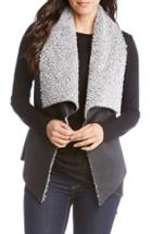Women's Love Token Collarless Genuine Rabbit Fur Vest