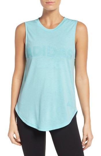 Women's Adidas Away Day Climalite Tank - Blue