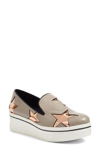 Women's Stella Mccartney 'binx Star' Slip-on Platform Sneaker Us / 39eu - Grey