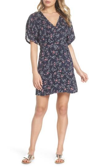Women's Paige Cherelle Floral Print Minidress - Blue