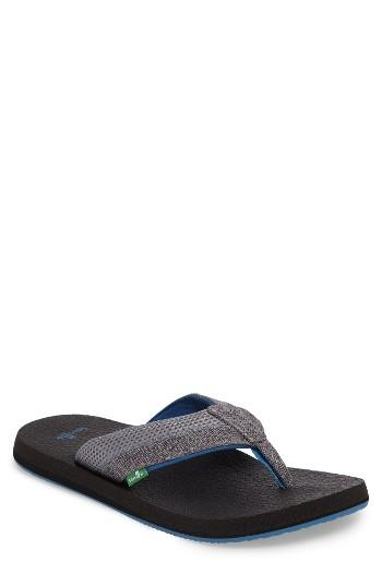 Men's Sanuk Beer Cozy Flip Flop M - Grey