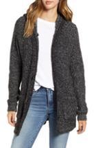 Women's Bp. Knit Hooded Cardigan, Size - Black