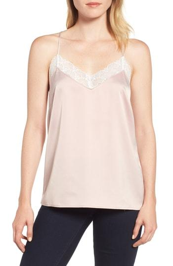 Women's Gibson X Living In Yellow Betty Lace Trim Camisole - Pink