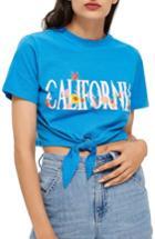 Women's Topshop California Crop Tee Us (fits Like 0) - Blue