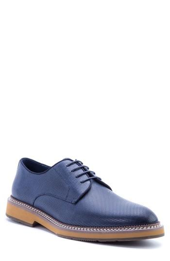 Men's Zanzara Monticello Perforated Plain Toe Derby M - Blue