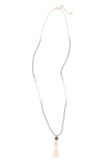 Women's Canvas Jewelry Long Beaded Necklace