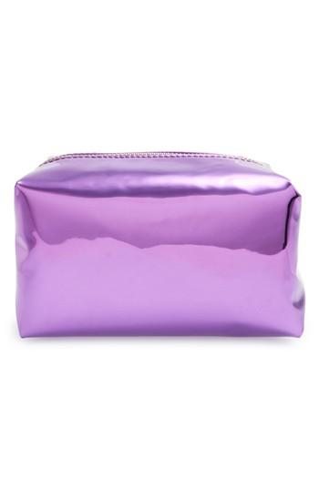 Yoki Bags Metallic Cosmetics Bag, Size - Purple
