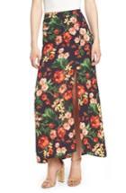 Women's Floral Maxi Skirt - Blue