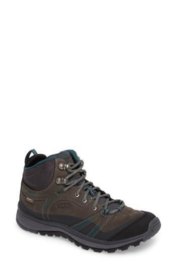 Women's Keen Terradora Leather Waterproof Hiking Boot M - Grey