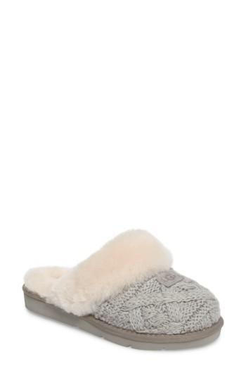 Women's Ugg Cozy Cable Slipper M - Grey