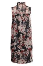 Women's Vince Camuto Timeless Blooms Shift Dress, Size - Black