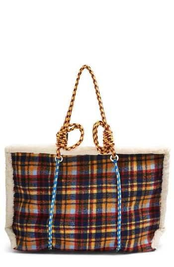 Topshop Blanket Rope Tote Bag - Blue