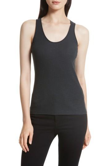 Women's Rag & Bone/jean Lara Ribbed Tank, Size - Black