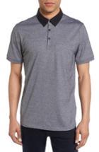 Men's Calibrate Trim Fit Pocket Polo - Grey