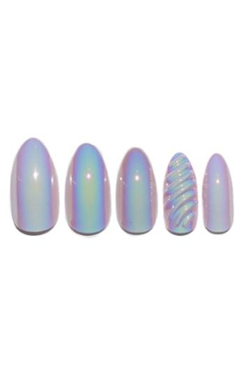 Static Nails Unicorns Are Real Holographic Pop-on Reusable Manicure Set - Unicorns Are Real