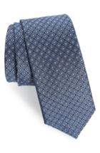Men's The Tie Bar Wacker Drive Silk Tie, Size - Blue