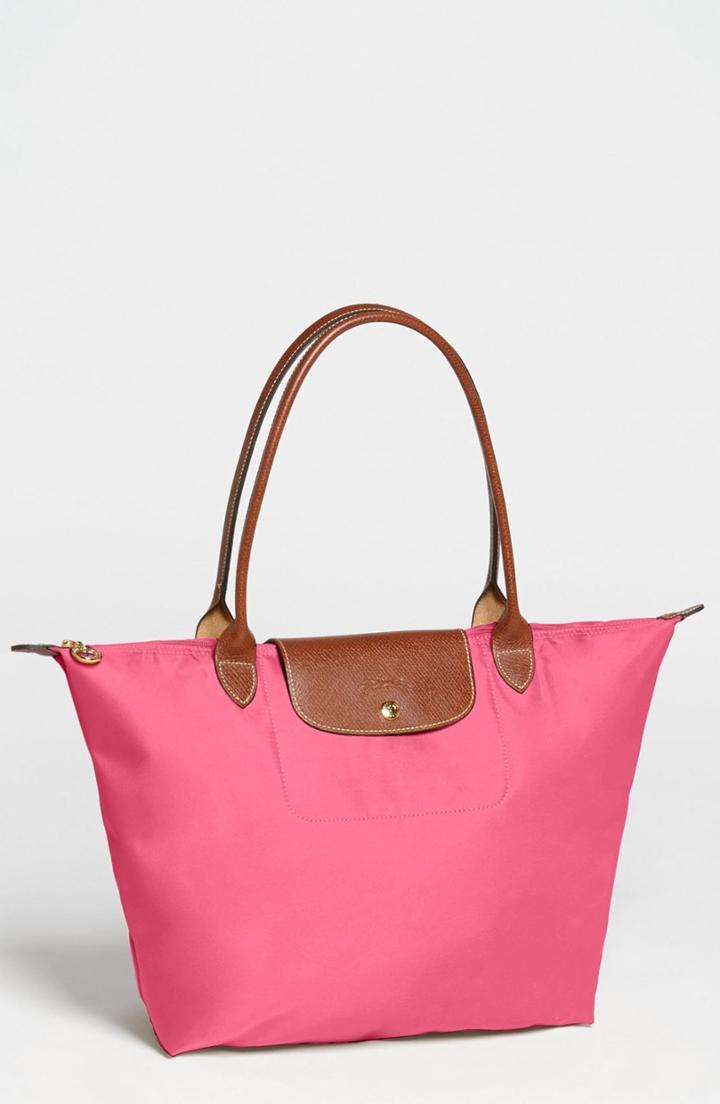 Longchamp Large Le Pliage Tote - Pink