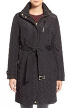 Women's Cole Haan Signature Belted Quilted Coat