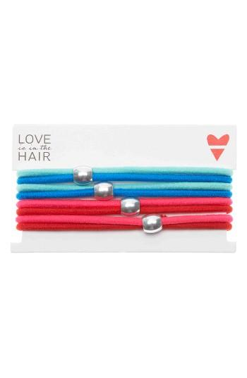 Love Is In The Hair Racer 4-pack Hair Ties, Size - Red