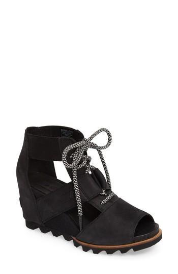 Women's Sorel 'joanie' Cage Sandal .5 M - Black