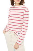 Women's Topshop Romantic Stripe Tee Us (fits Like 0) - Pink