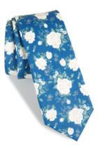 Men's The Tie Bar Hodgkiss Flowers Linen Tie, Size - Blue