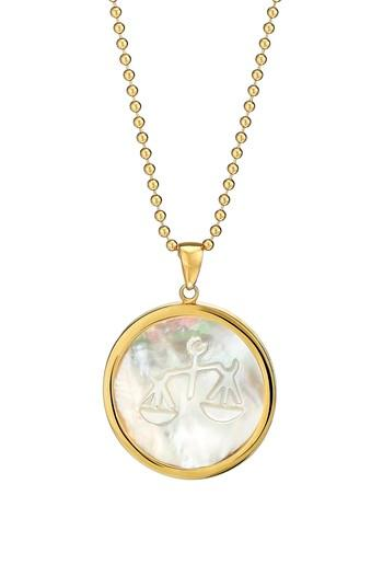 Women's Asha Zodiac Mother-of-pearl Pendant Necklace