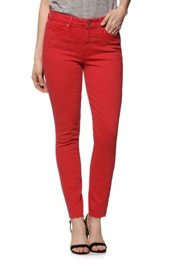 Women's Paige Hoxton High Waist Ankle Skinny Jeans - Red