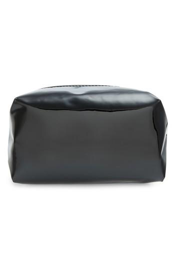 Yoki Bags Metallic Cosmetics Bag, Size - Black