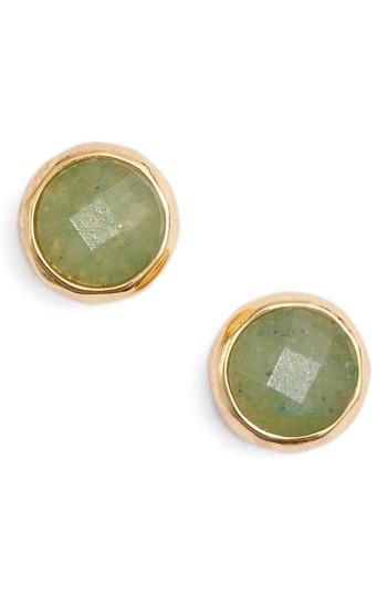 Women's Gorjana Aventurine Luck Stud Earrings
