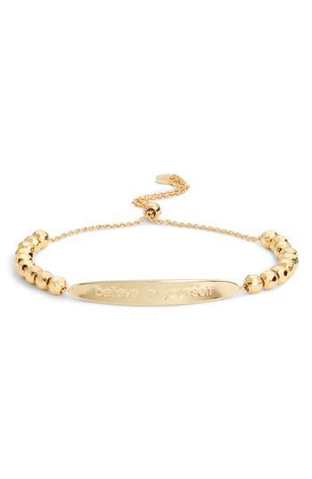 Women's Gorjana Power Intention Believe In Yourself Bracelet