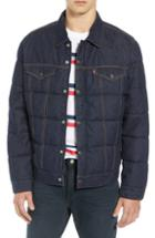 Men's Levi's Down Puffer Trucker Jacket - Blue
