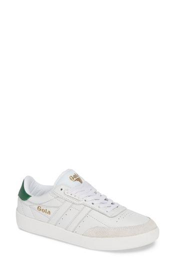 Women's Gola Inca Leather Sneaker M - White
