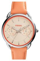 Women's Fossil 'tailor' Multifunction Leather Strap Watch, 35mm