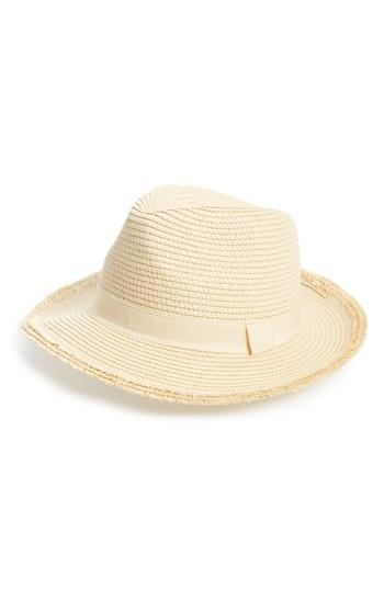 Women's Bp. Frayed Edge Fedora - Beige