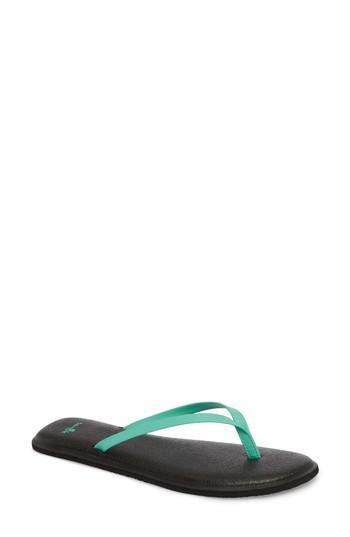 Women's Sanuk Yoga Bliss Flip Flop M - Blue/green