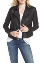 Women's Rebecca Minkoff Wolf Leather Moto Jacket - Black