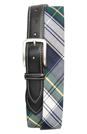Men's Allen Edmonds Gordon Leather & Plaid - Dress Tartan Navy/ White