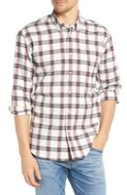 Men's Billy Reid Tuscumbia Regular Fit Plaid Sport Shirt - White