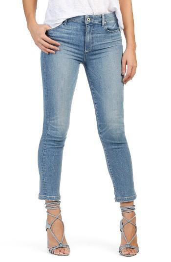 Women's Paige Jacqueline High Rise Crop Straight Leg Jeans - Blue