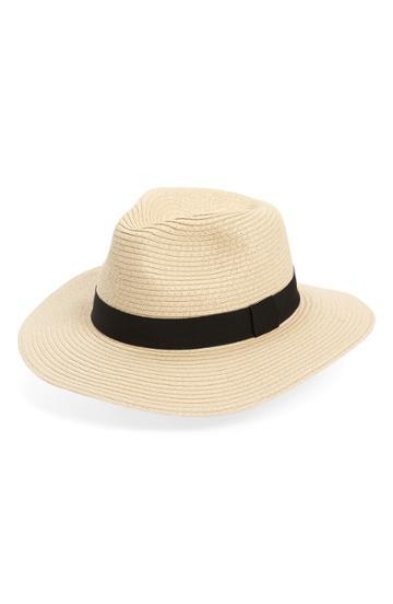 Women's Sole Society Straw Panama Hat -