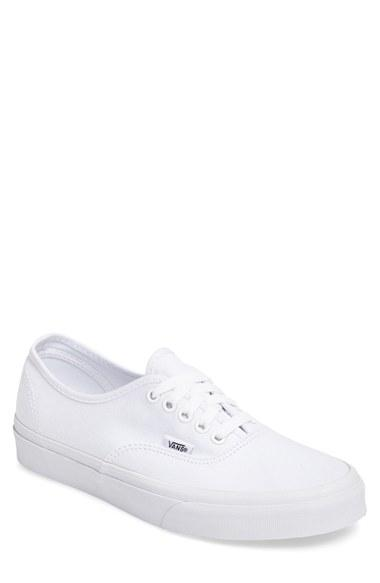 Men's Vans 'authentic' Sneaker .5 M - White