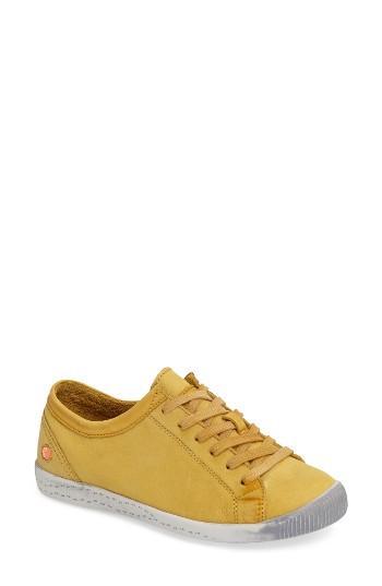 Women's Fly London Isla Distressed Sneaker .5-6us / 36eu - Yellow