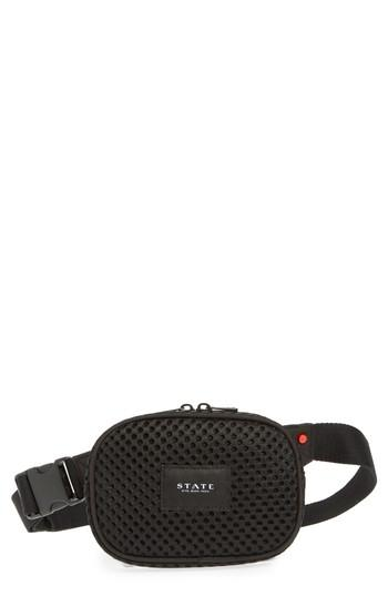 State Bags Crosby Mesh Belt Bag - Black