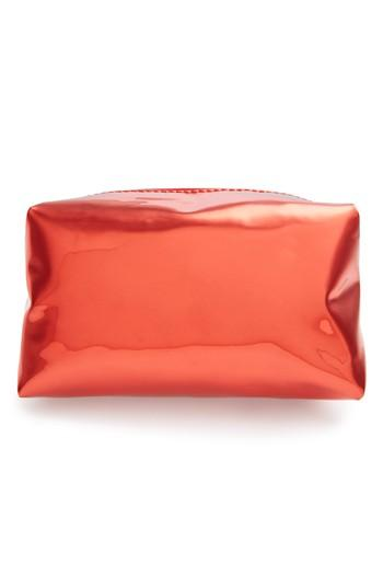 Yoki Bags Metallic Cosmetics Bag, Size - Red