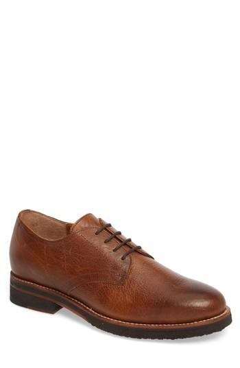 Men's Ariat Hawthorne Plain Toe Derby M - Brown