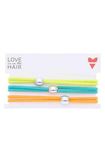 Love Is In The Hair Beach 3-pack Hair Ties, Size - Yellow