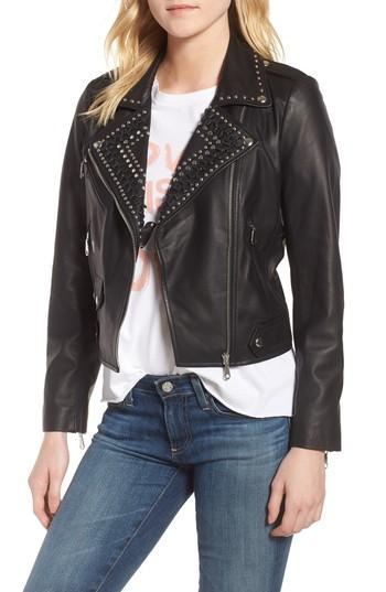 Women's Rebecca Minkoff Wes Leather Moto Jacket