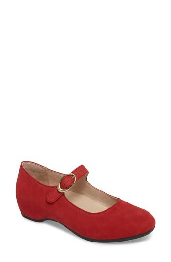 Women's Dansko Linette Mary Jane Wedge .5-6us / 36eu M - Red