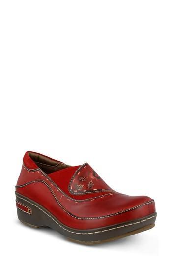 Women's L'artiste Burbank Slip-on, Size - Red